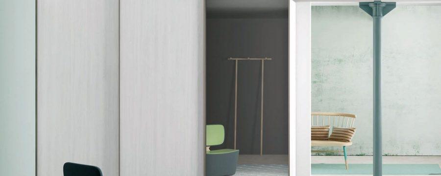 ארון הזזה רחף דלת מראה