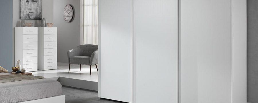 ארון הזזה 3 דלתות מלמין לבן