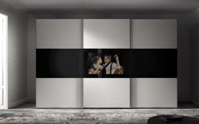 ארון טלוויזיה רחף עץ לבן