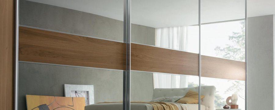 ארון קיר מראות סטריפ עץ